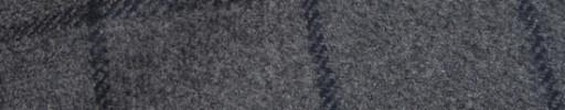 【Bc_m25】ミディアムグレー+6.5×4.5cmネイビーウィンドウペーン