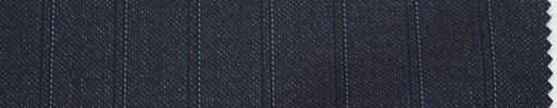 【Lo_4w119】ダークブルーグレー地+1.3cm巾織り・パープルストライプ
