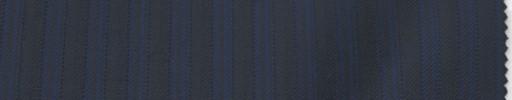 【Lo_6w68】ダークネイビー柄+1cm巾ブルーストライプ