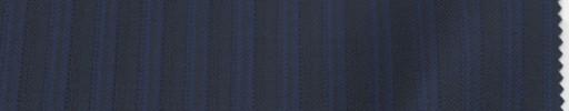 【Lo_6w69】ネイビー柄+1cm巾ブルーストライプ