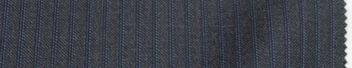 【Lo_6w71】チャコールグレー柄+5ミリ巾黒・水色ストライプ
