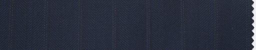 【Du_4w162】紺1.4cm巾ブロークンヘリンボーン
