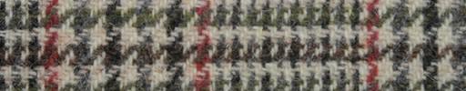 【Ht_8w084】オフホワイト+12×10cmブラウンミックスカラードチェック