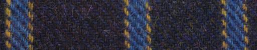 【Ht_8w089】ダスティーパープル+6cm巾ブルー・イエローストライプ