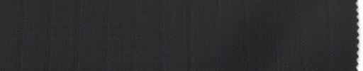 【Br_6w05】黒柄+9ミリ巾ブルー・織りストライプ