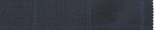 【Br_6w09】黒紺地+5×4.5cmブルーウィンドウペーン
