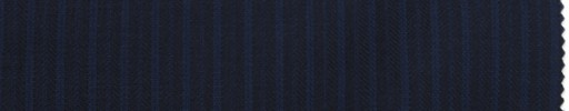 【Br_7w09】ネイビーヘリンボーン柄+6ミリ巾ブルーストライプ
