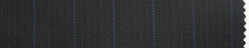 【Ma_0009】黒紺ヘリンボーン柄+1.6cm巾パープルストライプ