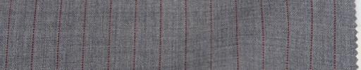 【To_9s05】ライトグレー+9ミリ巾レッドブラウンストライプ