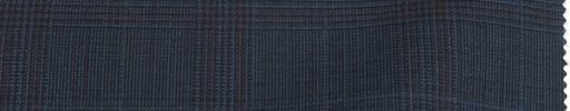 【To_9s09】ブルーグレーグレンチェック5.5×5cm+赤・織りオーバープレイド