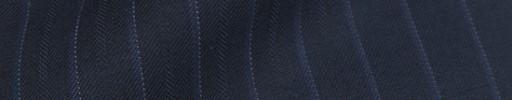 【Bm08w_34】ネイビー+1.2cm巾ブルー白ドット・織り交互ストライプ