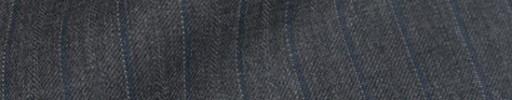 【Bm08w_35】ミディアムグレー+1.2cm巾ブルー白ドット・織り交互ストライプ