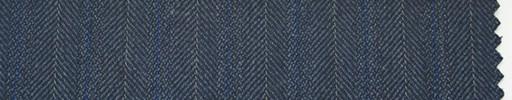 【Hs_ch01】ブルーグレー柄+1.4cm巾青・白交互ストライプ