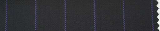 【Hs_ch06】黒紺地+2cm巾パープルストライプ