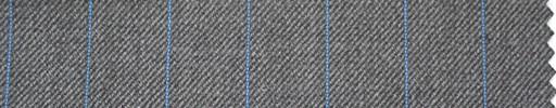 【Hs_ch08】ミディアムグレー地+1.6cm巾水色ストライプ