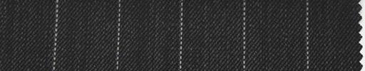 【Ib_0130】チャコールグレー地+1.6cm巾白ストライプ