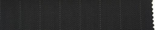 【Ib_0131】黒紺柄+1.2cm巾白ストライプ