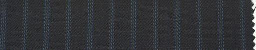 【Ib_0136】黒紺地+7ミリ巾ブルー交互ストライプ