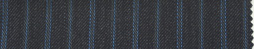 【Ib_0137】チャコールグレー地+7ミリ巾ブルー交互ストライプ