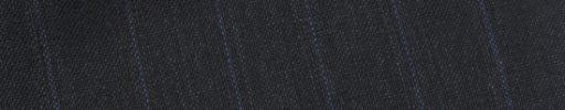 【Bs_0s078】チャコールグレー+1.4cm巾ブルー・織りストライプ