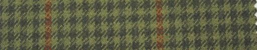 【Hs_pe27】緑・黄緑シェパード+6×4cmオレンジプレイド
