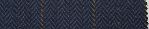 【Hs_pe47】黒ネイビーヘリンボーン+5×4cmブラウンプレイド