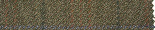 【Hs_pe48】グリーン柄+緑・茶・オレンジミックスチェック