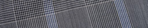 【Ca_01s824】白黒7×5.5cmグレンチェック+ライトブルーチェック