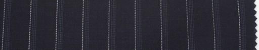 【Du_s4025】黒紺地+1cm巾白・ドットストライプ
