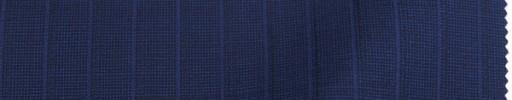 【Re_9s05】ネイビーピンチェック+1.1cm巾パープル・織りストライプ