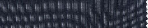 【P_7s17】ブルーグレーピンチェック+4ミリ巾ストライプ