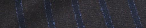 【Ca_92w01】ダークブラウン+2.2cm巾ネイビー・ブルーストライプ