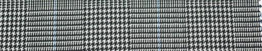 【Ha_re040】白黒グレンチェック+6.5×5cm水色ウィンドウペーン