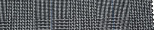 【Ha_re041】グレーグレンチェック+6.5cm×5cm角ブルーウィンドウペーン