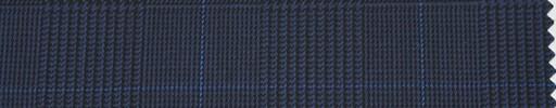 【Ha_re042】ネイビーグレンチェック+6.5cm×5cm角ブルーウィンドウペーン