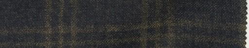 【Loz_8w05】ダークブルーグレー+5×5cmブラウンプレイド