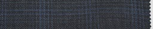【Sc_4w101】ミディアムグレー地+4×3.5cm水色プレイド