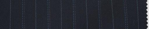 【Sc_4w103】濃紺地+1.8cm巾ブルー/グレーWドット・ブルー交互ストライプ