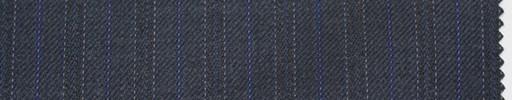 【Sc_4w104】ブルーグレー地+1.4cm巾パープル・織り交互ストライプ