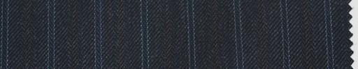 【Sc_4w106】チャコールグレーヘリンボーン柄+1.3cm巾茶・ブルー交互ストライプ