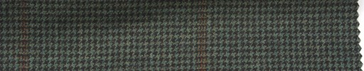 【Mi_5w027】グリーン・黒ハウンドトゥース+7×6cmダークオレンジプレイド