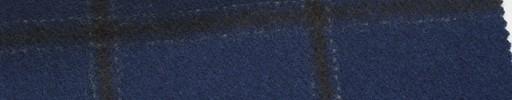 【Mi_5w032】紺地+6×5cmこげ茶プレイド
