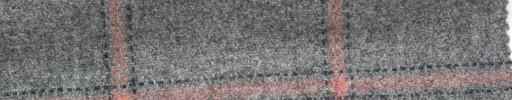 【Mi_5w033】ライトグレー地+6×5cmピンクプレイド