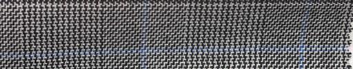 【Hs_cl07】白黒グレンチェック+6×5cm水色ウィンドウペーン