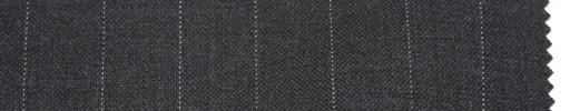 【Br_5s012】ミディアムグレー地+1.3cm巾白ストライプ