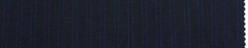 【Br_ss02】ダークネイビー+7ミリ巾ブルー・織りストライプ