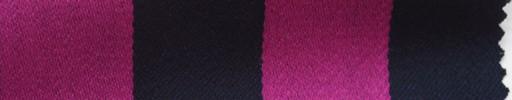 【Me_c067】ピンク×ネイビー2.6cm巾ストライプ