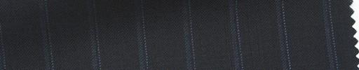 【Ib_6s129】黒紺地+1.2cm巾ブルー・織りストライプ