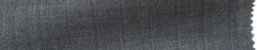 【Ib_6s131】ミディアムグレー杢+1cm巾パープルストライプ