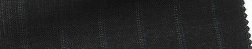 【Ib_5s147】チャコールグレー地+1.3cm巾ブルードットストライプ